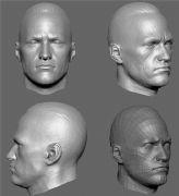 男人头部精细雕刻zbrush模型