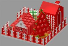圣诞屋,许愿树,圣诞美陈