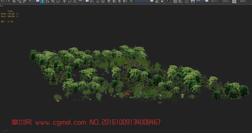游戏中可用到的树木简模