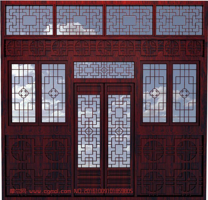 中式门窗组合