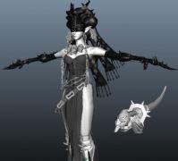 游?#20998;?#30340;傀儡女王maya模型
