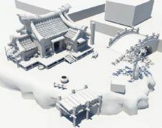 古代桃花源maya场景