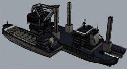 挖泥船模型(网盘下载)