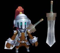Q版剑士,大刀剑士3D模型