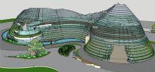 异型滨江建筑模型
