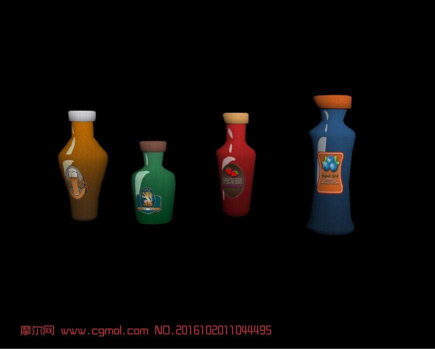 卡通酒瓶道具