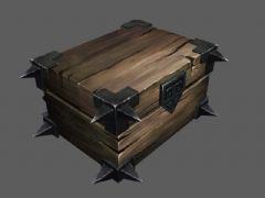 �T�木箱3D模型