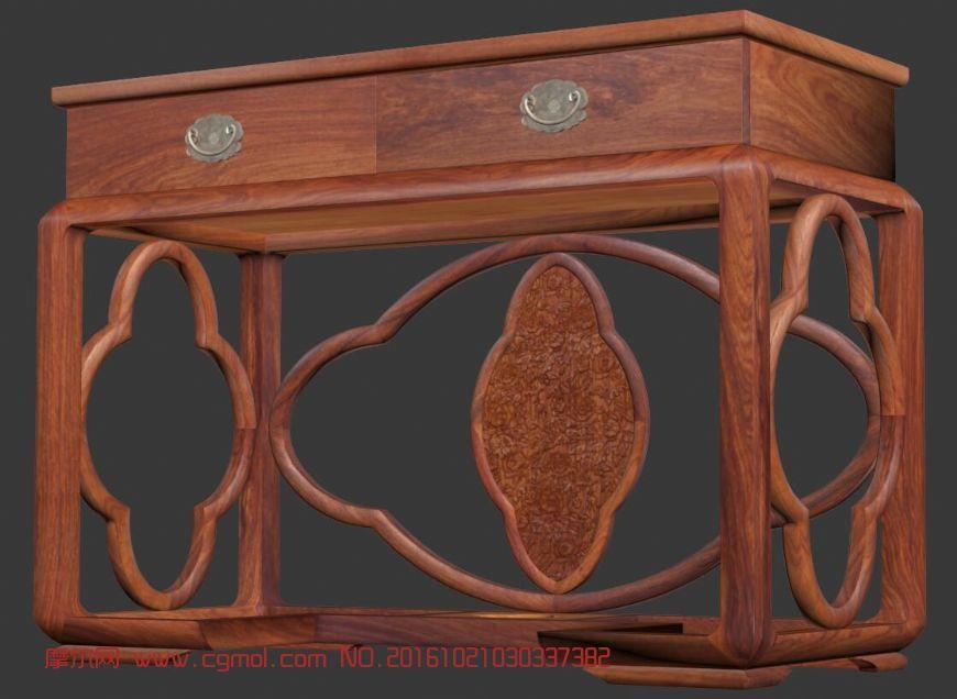 红木家具-梳妆台