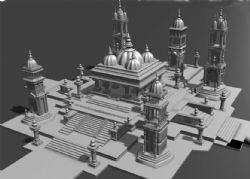超精细国外皇宫maya模型