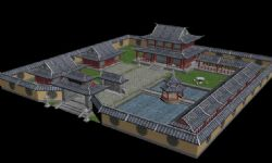 妙德阁,中式庭院寺庙古建