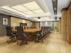 一个现代会议室模型