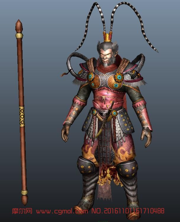 齐天大圣游戏精模,maya模型