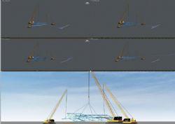 构件吊装翻身动画(镜头路径,约束链接)