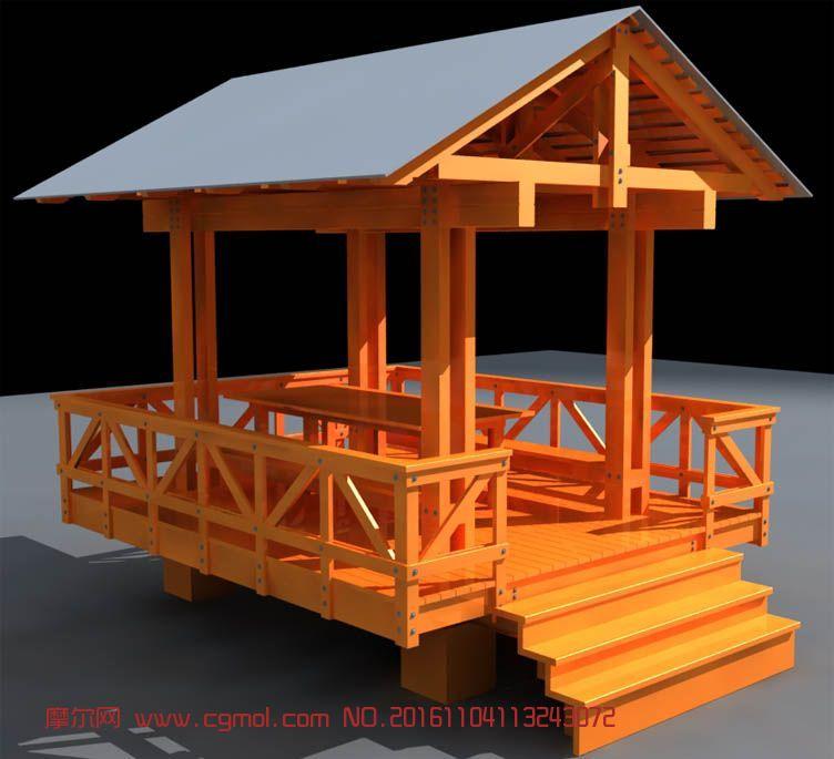建筑模型 中式建筑  标签:亭子凉亭木亭 作品描述: 上一个作品