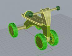 童车3ds,3dm两种格式的模型文件