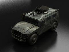 悍马装甲车,越野战车,配有重机枪