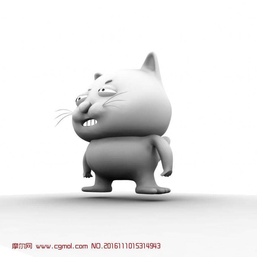 动物模型 哺乳动物  标签:猫卡通 作品描述:可爱的大懒猫 点赞( 0)