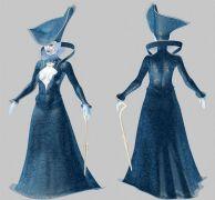 杵拐杖的巫师夫人,女伯爵,max,fbx,obj三格式