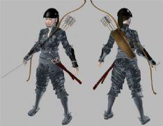 女武士,女弓箭手,max,fbx三格式