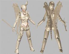 炽天使,六翼天使,max,fbx,obj三格式