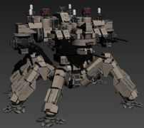 未来战场的多足机器人武器