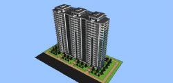 高楼住宅建筑体