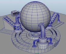 maya球形发电装置,磁场发生器
