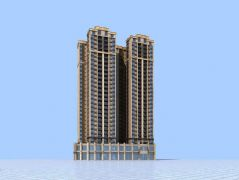 欧式小区高层建筑