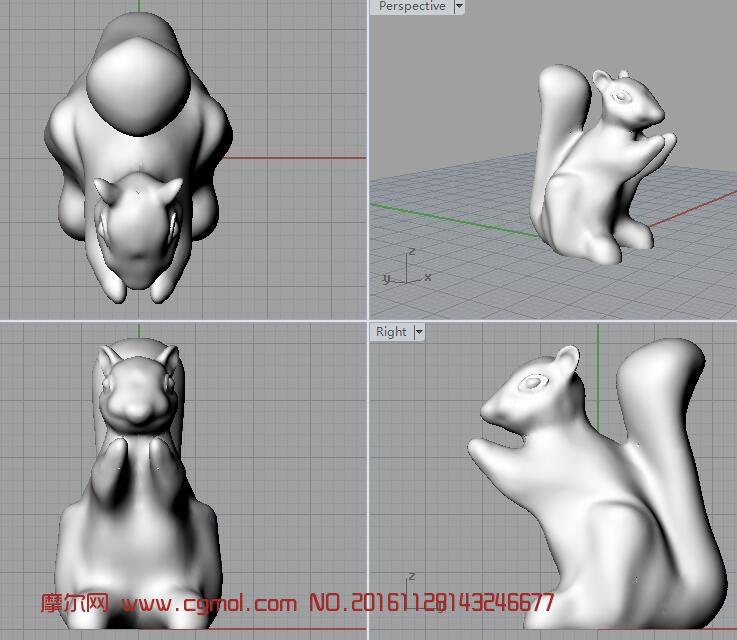 小小的松鼠3D打印文件