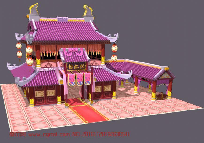 粉嫩的怡红院,古代妓院青楼房子
