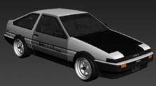 丰田AE86赛车-头文字D