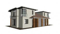 联排别墅模型