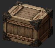 写实木箱物件