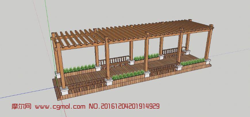 防腐木-自廊架