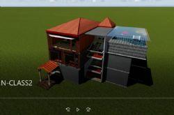 三层别墅立体房型剖析结构房子