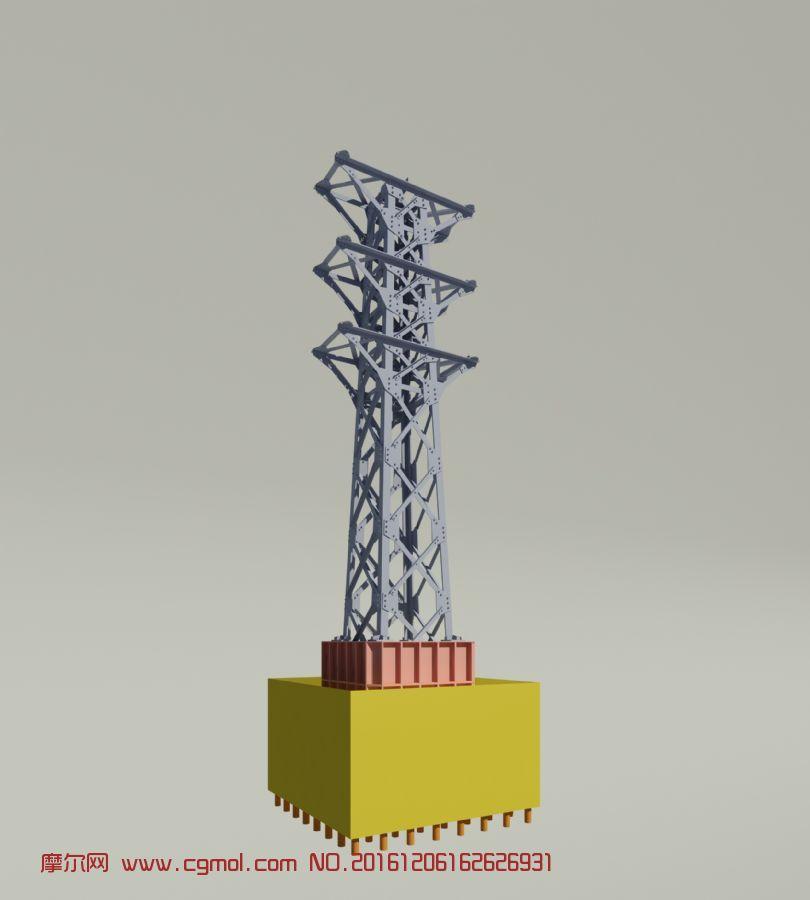 高压电线塔3dmax2014模型