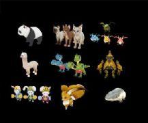 永恒之塔中的 卡通小怪物,小动物