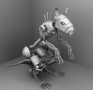 攻击型机械老鼠maya作品