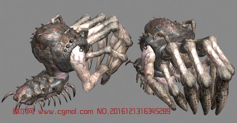 钻地兽,蜘蛛,max,obj,3ds,ma多种格式