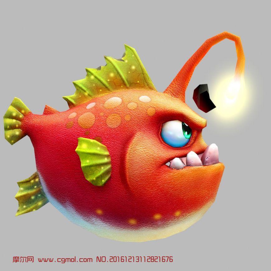 动物模型 鱼类动物  标签:灯笼鱼捕鱼达人捕鱼游戏游戏q版 作品描述