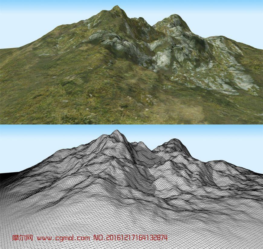 山势,山地,山峰3d模型