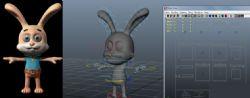 卡通兔子,绑定表情齐全