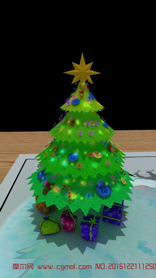 圣诞树-简模