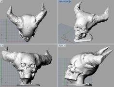 人面牛头头骨3D打印文件