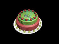 蛋糕max2017模型