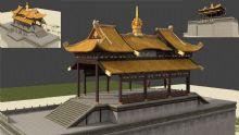 城楼,中国古典建筑max模型