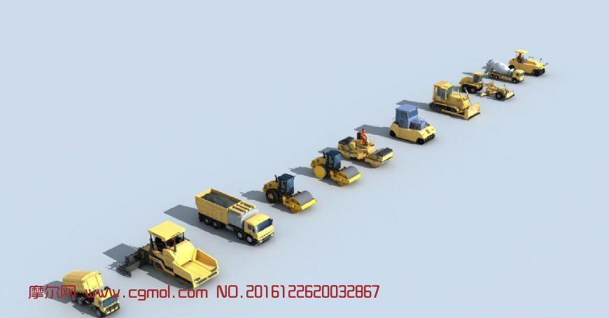 工程车修公路的专业机械设备