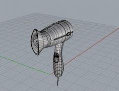 电吹风-犀牛建模