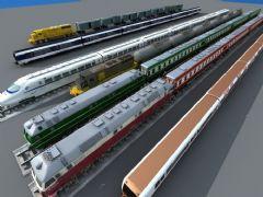 各种火车高铁动车