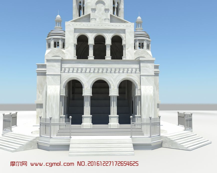 西方教堂简约maya模型